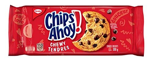 Chips Ahoy! Chewy Chocolate-Chip Cookies, 300g/10.6oz, (Imported from Canada)