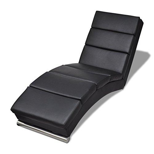 vidaXL Relaxliege Chaiselongue Liegesessel Lounge Liege Ruhesessel schwarz