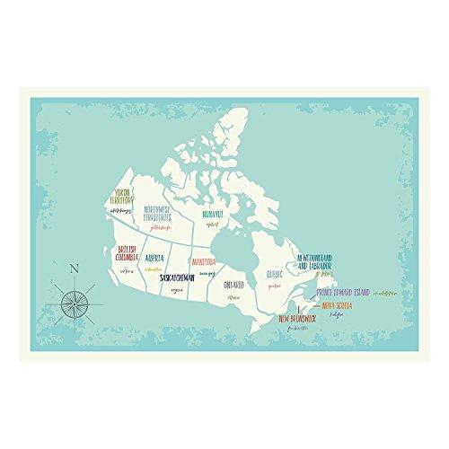 Travel Decor, Canada Wall Map Art Print, 05x07 Inch Print, Kid's Canada Wall Map, Children's Room Decor, Gender Neutral Nursery, Travel Nursery Decor, Canada Map, Canada Capital - Prints Canada