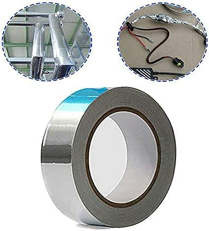 secadores plateado Cinta adhesiva de aluminio Powertool para reparaci/ón de HVAC conductos fabricaci/ón de joyas y manualidades