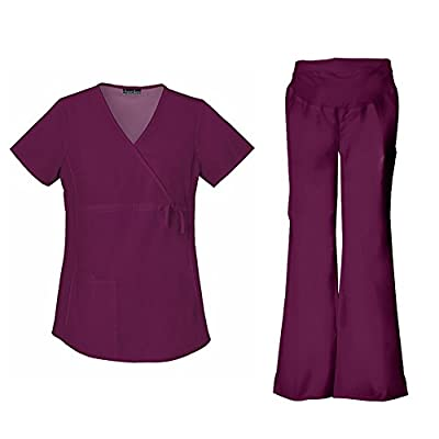 Cherokee Flexibles Women's Maternity 2892 Top & 2092 Pant Medical Uniform Scrub Set