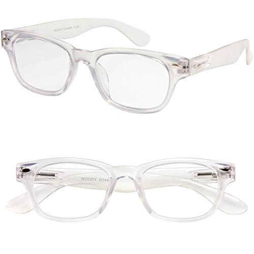 I NEED YOU Rectangular Eyeglasses Designer Woody Crystal Prescription Eyeglasses For Men & Women Spring Hinge & High-Quality Plastic Eyeglasses Power Glass With Strength - Men For Plastic Frames Clear Eyeglass