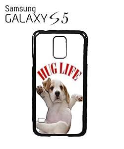 Hug Pug Life Cute Dog Doggie Mobile Cell Phone Case Samsung Galaxy S5 Black
