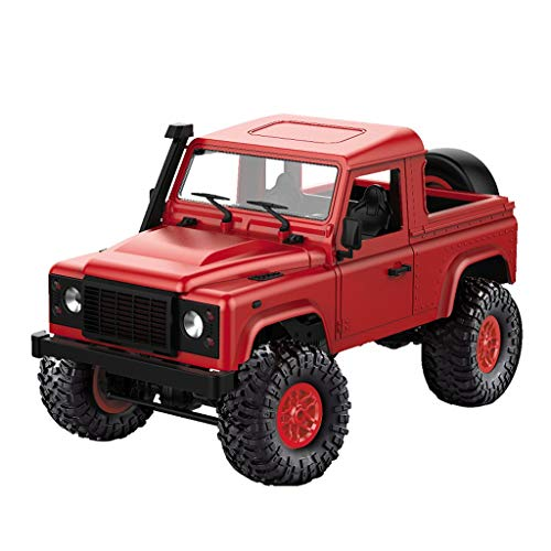 Alimao Front LED 2019 New Light 4WD RC Car Off-road Boutique Military Rock Crawler Monster Truck Red
