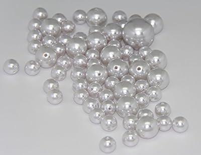75 Jumbo Pearls Decorative Vase Filler Assorted Sizes for Wedding Centerpiece - WHITE