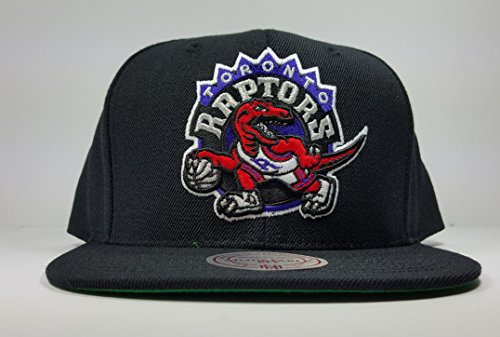 Mitchell & Ness Toronto Raptors Current Black HWC Vintage Solid Wool Classic Adjustable Snapback Hat NFL – DiZiSports Store