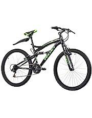 VELOCI Bicicleta Everest, Doble Suspensión, Rodado 26, Color Negro