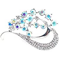 New Simple Crystal Butterfly Suit Brooch Alloy Colorful Rhinestone Brooch Pin Accessories For Women Bobury