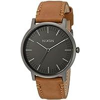 Nixon Men's 'Porter' Quartz Metal and Leather Watch, Color:Brown (Model: A10582494-00)