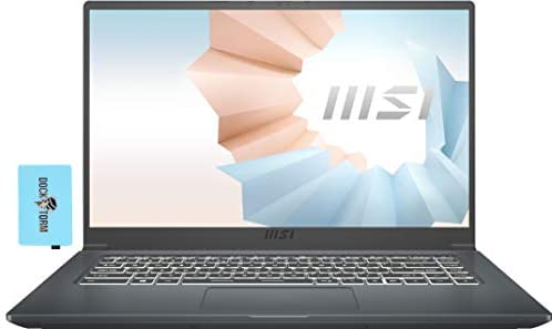 "MSI Modern 15 A11M Home and Business Laptop (Intel i7-1165G7 4-Core, 16GB RAM, 512GB SSD, Intel Iris Xe, 15.6"" Full HD (1920x1080), WiFi, Bluetooth, Webcam, 1xHDMI, Win 10 Home) with Hub"
