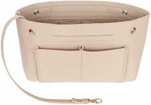 fbed8b1c0 Yoillione Felt Organizer Insert Handbag Organiser, Felt Bag Purse Organizer  with Handle Keychain and Safer