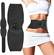 Electric Slimming Belt, Portable Muscle Stimulator with 6 Modes & 15 Levels Strengths, Weight Losing Home
