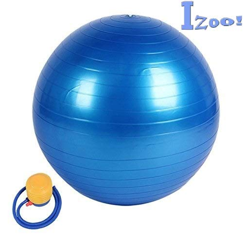 Izoo® Anti Burst Gym Ball with Free Air Pump | Fitness Exercise Stability Non-Slip, Extra-Thick Yoga Ball | Unique, Safe and Stylish Gymnastic ball | Overall Heavy Duty Body Muscles Strengthener Exerciser | Fitness Ball for Physical Therapy, Pilates, Yoga, Barre, Stability Ball, Shoulder and Core Training | A best Fitness Equipment for both Men and Women | A Perfect Gift for Fitness Lover. Price & Reviews