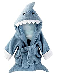Baby's Cartoon Hooded Bath Towel Cotton Terry Toddler Kid Animal Bathrobe