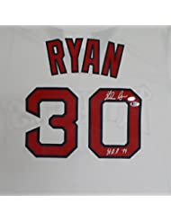 "California Angels Nolan Ryan Autographed White Majestic Cooperstown Cool Base Jersey ""HOF 99"" Size L Beckett BAS"
