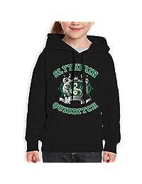 AlbertV Harry Potter-Slytherin Quidditch 5 Teens Hoodies Hooded Sweatshirt Boys Girls Black
