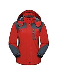 Diamond Candy Sportswear Women's Hooded Softshell Raincoat Waterproof Jacket