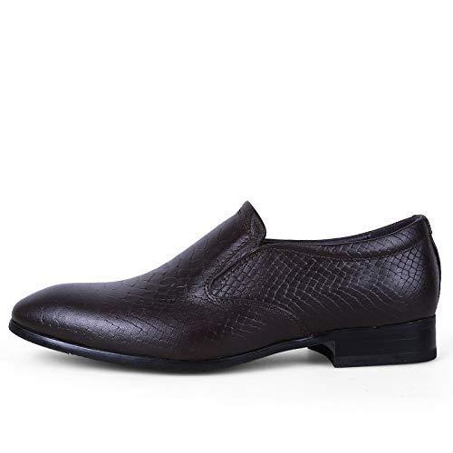 FuweiEncore 2018 Oxfords der Männer Geschäfts-zufällige Neue Art-Einfache Klassische Britische Britische Britische Mode Atmen Formale Schuhe (Farbe   Dark Khaki, Größe   46 EU) (Farbe   Dark Khaki, Größe   47 EU) 2d6589