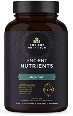 Ancient Nutrition, Ancient Nutrients Magnesium - 300mg Magnesium, Adaptogenic Herbs, Enzyme Activated, Paleo & Keto Friendly, 90 Capsules…