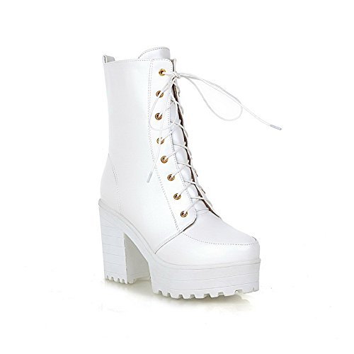 BalaMasa Womens Bandage Platform Cold-Weather Imitated B01M0EGFQA Leather Boots B01M0EGFQA Imitated Shoes 67399f