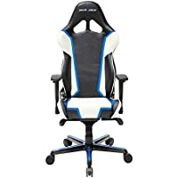 DXRacer OH/RH110/NWB Ergonomic, High Quality Computer Chair for Gaming, Executive or Home Office Racing Series White / Blue / Black