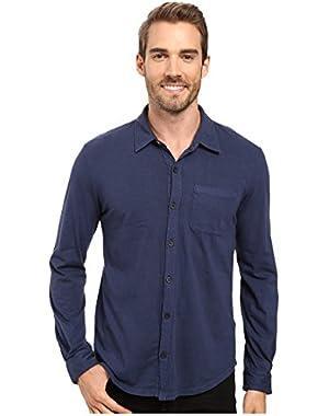 Mens Summerland Knit Long Sleeve Jersey Button Front Shirt