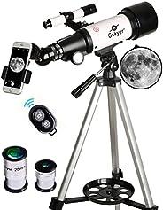 Telescopio Gskyer de 2.756in de apertura 15.748in AZ montaje astronómico refractante telescopio para niños p