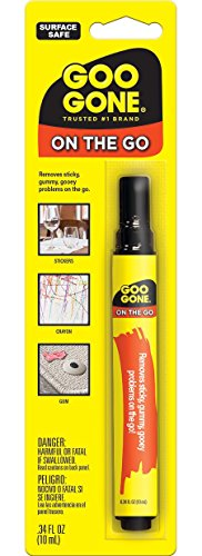 Goo Gone On The Go Pen - 0.34 Ounce - Adhesive Removing Pen Removes Stickers Price Tags and Scuffs