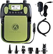Crew & Axel Rechargable Electric Paddle Board Pump (Wireless) – (16PSI, 12V) Portable Air Compressor Also
