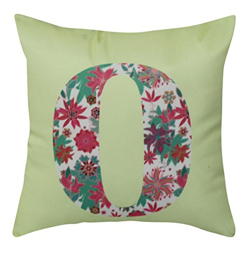 NikaGrace, Floral Letter O Throw Pillow Cover No Pillow Insert and Made in USA