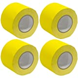 Seismic Audio - SeismicTape-Yellow604-4Pack - 4 Pack of 4 Inch Yellow Gaffer's Tape - 60 yards per Roll