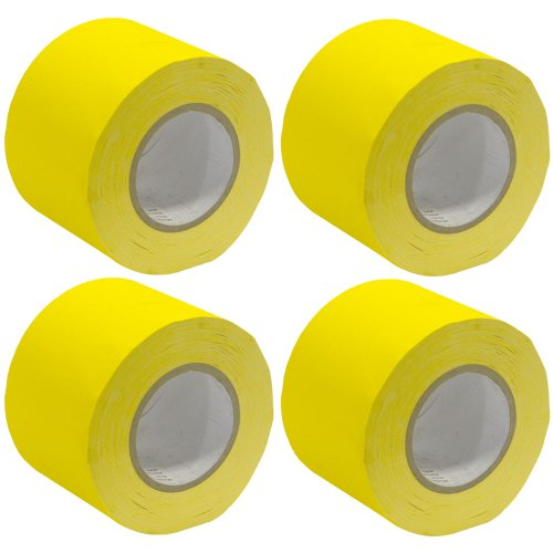 - Seismic Audio - SeismicTape-Yellow604-4Pack - 4 Pack of 4 Inch Yellow Gaffer's Tape - 60 yards per Roll