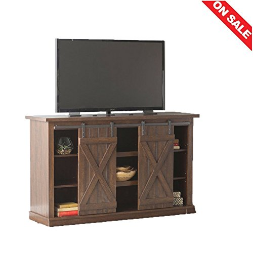 Console Table TV Shelves Vertical Media Storage Rustic Unique Design Minimal Decor Indoor House Entertainment Center Furniture & E book Easy 2 Find.