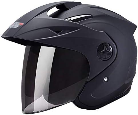 XINGZHE ヘルメット - オートバイのヘルメット男性の電気自動車の女性夏の日の保護アンチフォグハード帽子 安全ヘルメット