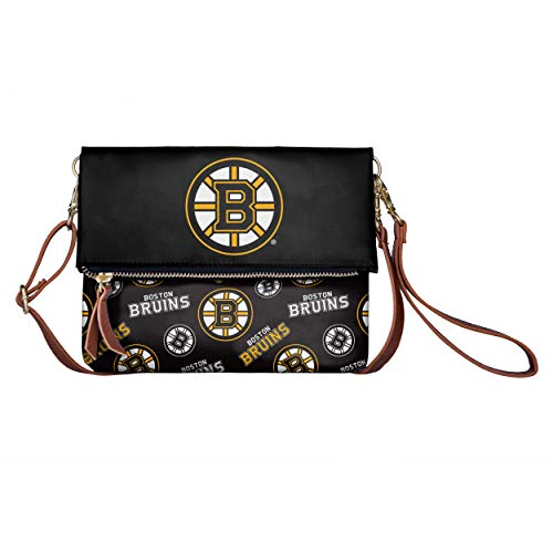 (FOCO NHL Boston Bruins Womens Printed Collection Foldover Tote Bagprinted Collection Foldover Tote Bag, Team Color, One Size)