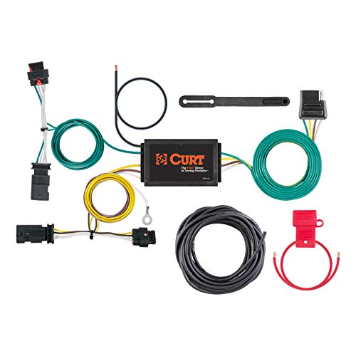 CURT 56369 Vehicle-Side Custom 4-Pin Trailer Wiring Harness for for Select Jeep Compass