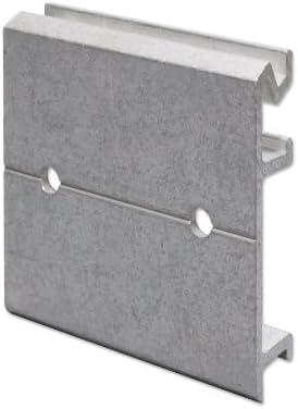 1 x K2 C9062 Face Fix Gutter Bracket Adapter Aluminium Fascia Plate for face fixing K2 C8043 gutter brackets