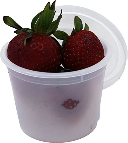 Vito's Famous Deli Container with Lid, 4 Ounce (Pack of 100) | Tight Seal | Freezer Safe | Microwave Safe | Perfect for Food Portioning ()