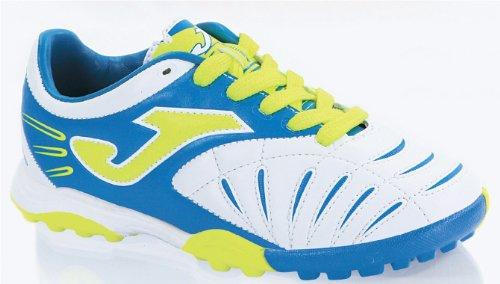 Joma Kinder / Junior Fussballschuh Power Turf, Gr. 38 (US 6/CM 25), weiss/blau, Multinocken, POJW.302.PT