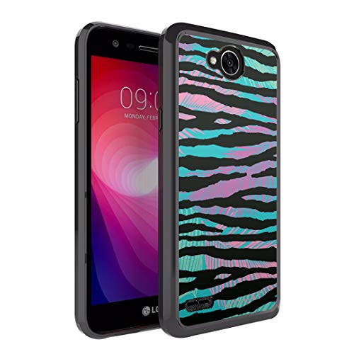 Moriko Case Compatible with LG Fiesta 2, LG X Power 2, LG X Charge, Fiesta LTE, K10 Power, LS7 4G LTE [Drop Protection Slim Bumper Case Black] for LG X Power 2 - (Colorful Zebra)