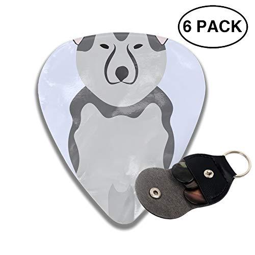 (Shepherd Retriever Dog 3D Printed Rockpeak Guitar Pick Light,Medium,Heavy,6pcs)