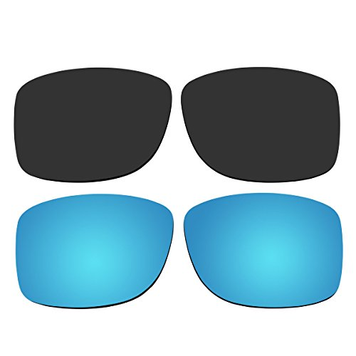 Replacement Polarized Black and Ice Blue Lenses for Oakley Jupiter Squared - Polarized Squared Oakley Jupiter