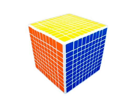 Shengshou Professional 10x10x10 10.2cm 6 Colors Brain Toy Birthday Holiday Gift Cube Glossy Sticker Puzzle Speed Magic Cube - White