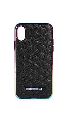 Rebecca Minkoff Quilted Love Oil Slick iPhone X Case, Black Oil Slick, iPhone X