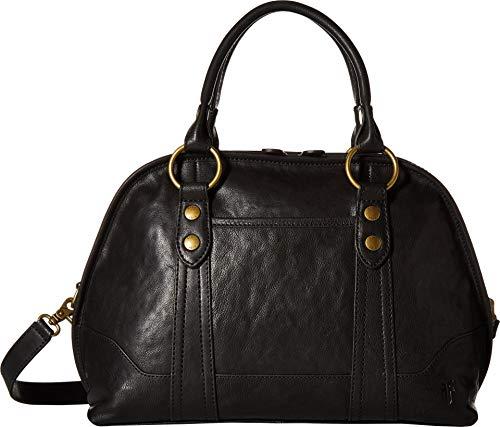 Frye Women's Lucy Domed Satchel Black/Black Polished Full Grain One Size