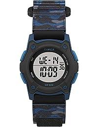 Boys' Time Machines Digital Quartz Nylon Strap, Black, 18 Casual Watch (Model: TW7C774009J)