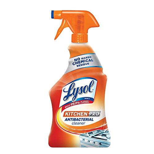 (Lysol Kitchen Pro Antibacterial Kitchen Cleaner Spray, 22oz, No Harsh)