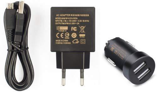 MicroMobile Charger Set Micro USB AC 5 35V 2A, MSPP2540 (AC 5 35V 2A, DC 1  x 5V 2 1A and 1 x 5V 1A, Including Micro USB Cable)