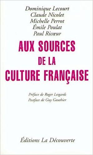 Livres gratuits Aux sources de la culture française pdf epub