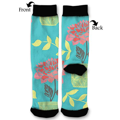 Dahlia Stockings - Dahlias and Vines Socks Funny Fashion Novelty Advanced Moisture Wicking Sport Compression Sock for Man Women